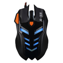 2400 DPI LED Optical Wired Gaming Mouse Mice For Laptop PC Gamer BK