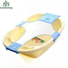 Baby Bath Bed Full Cotton Cross Shaped Baby Bath Seat Anti-skid Safety Support Adjustable Kids Bathtub Shower Bathing Net bed(China)