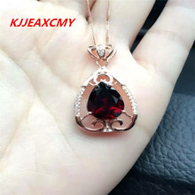 KJJEAXCMY boutique jewelry,Natural garnet female necklaces, pendants, custom jewelry wholesale, S925 Sterling Silver batch(China)