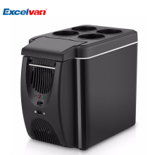6L Mini Car Fridge Cooler Warmer 2 in 1 Multi-function 12V Travel Refrigerator Portable Electric Icebox Cooler Box Freezer(China)