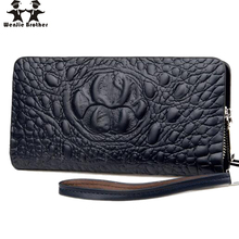 new hot selling male crocodile wallet men's business OL purse PU Leather Long Wallet Portable casaul Purse Male Cluttch Bag