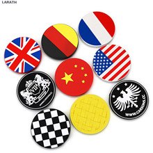 10pcs 7cm Diameter Cup Holder Car Magic Sticky Mat Accessory China France America England Germany Flag JP Silicon Anti Slip Mats(China)
