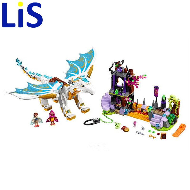 Lis Bela Elves 10550 White Dragon The Elf Series Of Long After The Rescue Cction Blocks With 41179 Girls Assembled Block Toys<br>