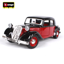BBURAGO alloy car model 1:24 1938 Citroen 15 CV modified simulation model Collection Lovers Diecast Toys Gifts for children