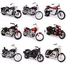 1/18 Maisto Model Motorcycle Toy, Simulation Metal & ABS Harley Motor Cycle, Rubber Tire Car, Toys For Children, Brinquedos