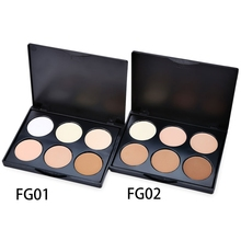 2018 Perfect For Professional Salon 6 Color Multiple Vibrant Concealer Waterproof Makeup Powder Black Eye Concealer For Women