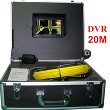 20M Cable Pipe Inspection Camera Underwater Sewer Camera 12pcs White Lights Night Vision With 7 Inch LCD Monitor DVR System(China)