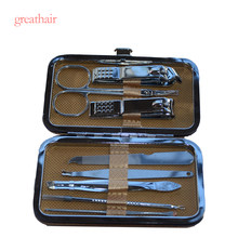 8 in 1 Manicure Set Beauty Tools Sets Professional Nail Clipper Kit Utility Pedicure Scissors Tweezer Knife Ear Pick Nails Art(China)