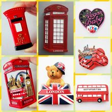 Free shipping Exporting Quality London Bear Post Guard Phone Booth Tourist Figure Toy Fridge car home office decor Magnet gifts(China)