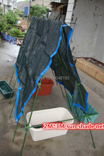 sun shade net Black mesh network shading 75% 2*3m HDPE edge Prevent bask Vegetable shed interior balcony Plant gardening outdoor(China)