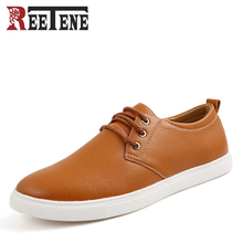 Buy Fashion High PU Leather Men Casual Shoes Lace-Up Oxfords Mens Shoes New Brand Men Flats Zapatos Classic Board shoes for $26.15 in AliExpress store