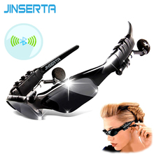 JINSERTA Sport Stereo Wireless Bluetooth Headset 3 colorful Sun lens Earphones Sunglasses mp3 Riding Glasses(China)