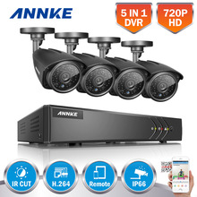ANNKE  4 Indoor Outdoor IR Home Surveillance Camera System 4 CH 720P AHD  HDMI DVR