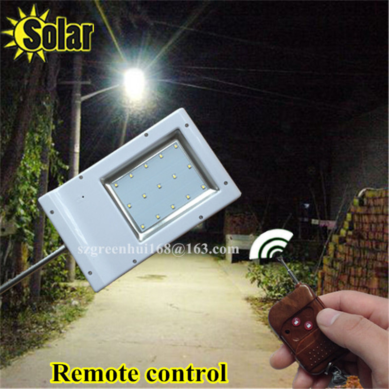 Hot 15leds Solar Power Street Light Remote Control + Ray Sensor Waterproof Outdoor Fence Garden Pathway Emergency Wall Lamp<br>