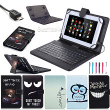 "Universal PU Leather Stand Case Cover with USB Keyboard +Pen for 10.1"" Hp Slate 10 S10 3500us/slate 10 Hd 3600us Android Tablet"