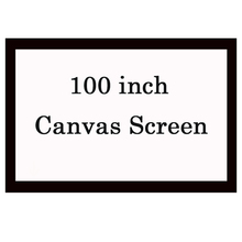 NIERBO 100 inch 16:9 Portable Projector Screen Film Screen 3D Home Theater Projector Screen Matt White Fabric Projection Screen