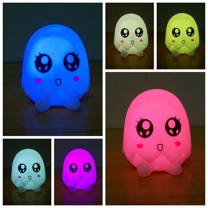LED RGB 7 Color Dolphins Night Light Colorful Mushrooms Night Light elephants lamp eggs light gift for children baby bedroom