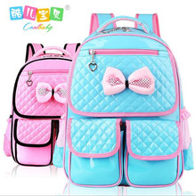 Hot buy child backpack schoolgirl book bag nylon waterproof pink 1 to 6 grade backpack High quality Travel bag boy 2017(China)