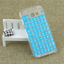New Pure Candy Color Square Diamond Cover for Samsung Galaxy A5 2017 Crystal Clear Hard PC Mobile Phone Case for Samsung A5 2017