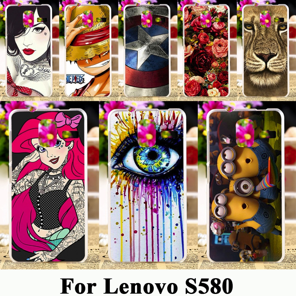TAOYUNXI Mobile Phone Case For Lenovo S580 S 580 5.0 inch Silicone Case Hard Plastic Cover Coque Capa Housing Bag Shell Skin(China)