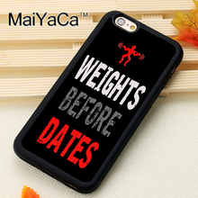 Bodybuilding Gym Training Printed Phone Case Skin For iPhone 6 6S Plus 7 7 Plus 5 5S 5C SE 4 4S Rubber Soft Cell Housing Cover