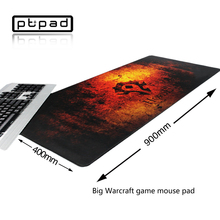 Pbpad store 900x400mm Oversized World of Warcraft computer gaming mouse pad lock edge keyboard mats for game players(China)