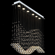 VALLKIN Luxury LED Crystal Pendant Lights Modern Hanging Lamps Fixtures for Indoor Home Mall Store with Ac 100 to 240v