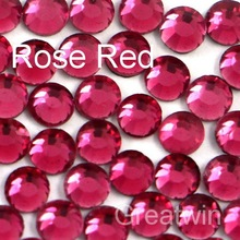 DIY DMC Hot Fix Crystal SS10 Rose Red Rhinestones 10 Gross/bag Hotfix Brides Stones Iron On Garment Accessories