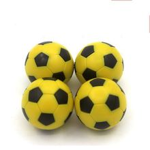 4 pcs Foosball balls yellow&black Soccer Table balls -36 mm Eco Material and Special Design Mini Football