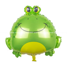 10pcs/lot 65*62cm new Inflatable animal Frog balloons foil balloon birthday party supplies children's party toys baby shower toy