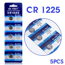 100% brand new 5PCS 3V Lithium Button/Coin Cells Batteries CR1225 LM1225 BR1225 ECR1225 KCR1225 EE6220 55% off