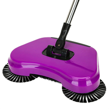 Stainless Steel Sweeping Machine Push Type Magic Broom Dustpan Handle Household Vacuum Cleaner Hand Push Sweeper Floor Robotic(China)