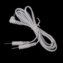 3.5mm Plug 2 Pins Lead Wires Connecting Cables for Electrode Pad Digital TENS Therapy Massager Body Massage Health Care(China)
