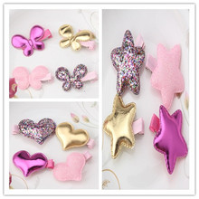 Lovely Style Hair Accessories New Designer Shiny Star Hair Accessories Girls Heart Butterfly Hairpins Kids Barrettes Hair Clip
