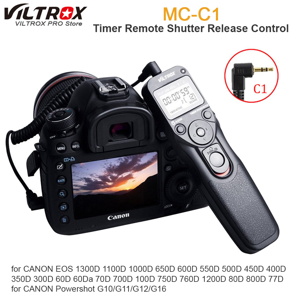 1300D Dispara Control Remoto Interruptor de liberación del obturador Cable Cable para Canon EOS 300D