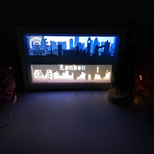 London Ferris Wheel Design Paper Lantern 3D Papercut Light Boxes Baby Night Light Lamp of Creative Light Paintings Couples Gift(China)