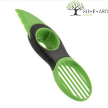GUHEHARD Hot Portble 3-in-1 Safety Avocado Slicer Corer Plastic Fruit Pitter Cooking Tools Durable Blade Kitchen Accessories