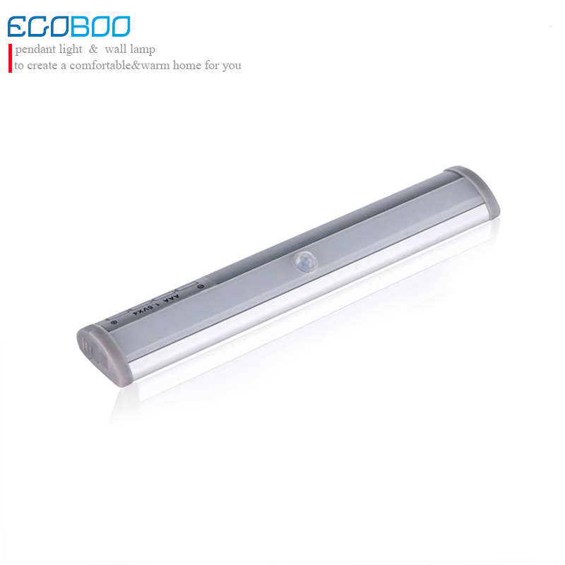 EGOBOO SMD3528 LED IR Infrared Motion Sensor Closet Cabinet Lights kitchen Lamps Auto. On Wireless Using AAA battery lights