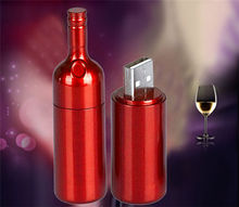 !Hot selling wine bottle USB 2.0 1GB-64GB Flash Drive thumb pendrive memory stick u disk gift/ souvenir/Wholesale  S290