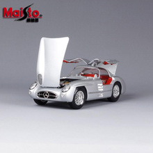 1:18 Scale children brand miniature 300SLR Uhlenhaut Coup vintage classic die cast cars styling metal model toys gifts for boys