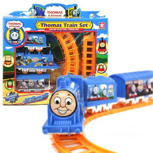 J.G Chen! Thomas Train Track Tomas Electric Train Set Baby Educational Toys Splicing Rail Train Gift Kids Boy Toys Scale Models