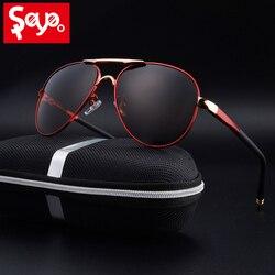 SAYLAYO HD поляризованные солнцезащитные очки мужские винтажные новые мужские крутые солнцезащитные очки для вождения UV400 Защитные Оттенки для...