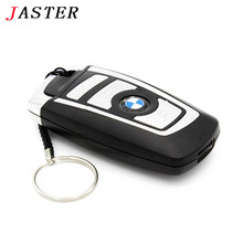 JASTER 100% Real capacity BMW Car key usb flash drive pendrive 32gb 16gb 8gb flash card memory stick u disk keychain gifts