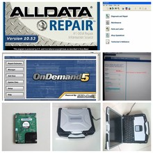 2017 alldata mitchell on demand auto repair software 2017 all data software in 1tb hdd + CF-30 4g toughbook laptop ready to use