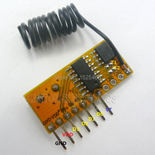 433MHz 4 Channel EV1527 PT2262 Decode Module Wireless RF Receiver Plug-in DUE UNO MEGA2560(China)