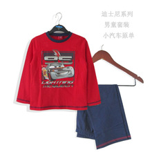brand Boys and girls Clothing sets/pants 2013 spring autumn long-sleeved car Shirt/Child Clothing Collection of children's Wear