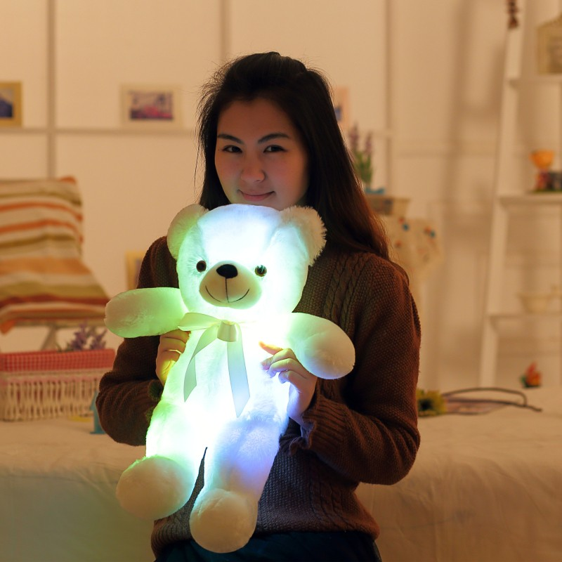 4-Cute-50cm-Creative-Light-Up-LED-Teddy-Bear-Stuffed-Animals-Plush-Toy-Colorful-Glowing-Teddy-Bear