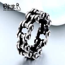Buy BEIER 316L Stainless Steel Steel Link Chain Rings Punk Rock Mens Boys Ring Biker Male Jewelry Birthday Gifts BR8-511 for $2.79 in AliExpress store