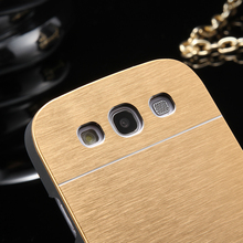KISSCASE For Galaxy S3 Metal Case Slim Aluminum Cover For Samsung Galaxy S3 I9300 Luxury Brush Dual Layer Protective Case Bag S3