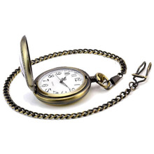 Fashion Pocket Watch Vintage Retro Bronze Dragon Phoenix Quartz Pocket Watch Pendant Chain Necklace relogio masculino(China)